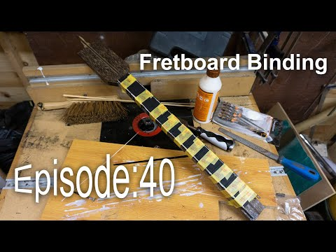 Guitar Shed Diary 40: Routing And Binding A Radiused Fretboard, How To Do A 5 Min Job In 5 Hours