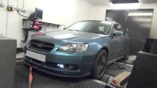 Subaru Legacy 3.0r Spec B, final power run after remap