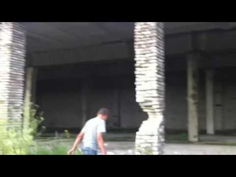 Russian building demolition