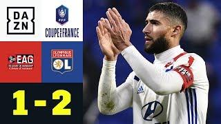 Nabil Fekir und Co. zittern sich weiter: EA Guingamp - Olympique Lyon: 1:2 | Coupe de France | DAZN