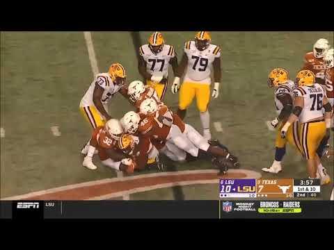 Brandon Jones (Texas DB) vs. LSU 2019