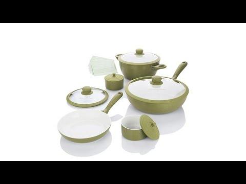 Lorena Garcia 10pc Lightweight Ceramic Nonstick Cookset