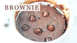 Chocolate Brownie In Mug - 5-ingredient Microwave Recipe 초코 브라우니 만들기 - 한글자막