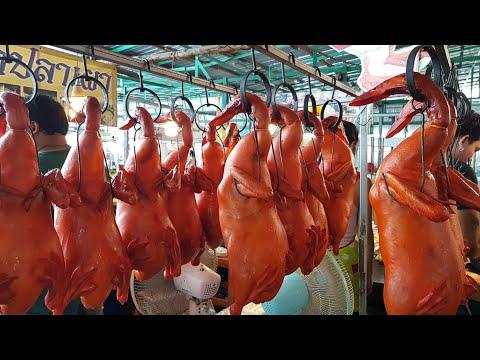เป็ดอ้วน..โคตรน่ากิน ตัวละ400บาท #วันหนึ่งเป็ดย่างนครปฐม @ตลาดน้ำคลองลัดมะยม roasted duck
