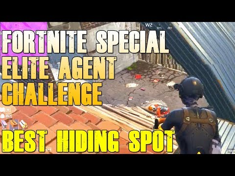 "BEST HIDING SPOT IN FORTNITE ""SPECIAL ELITE AGENT CHALLENGE"""