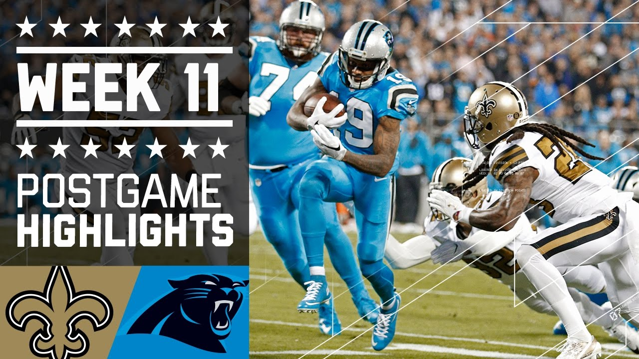 Saints vs. Panthers | NFL Week 11 Game Highlights - YouTube