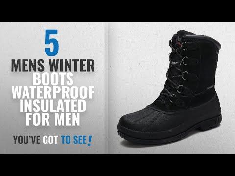 Top 10 Mens Winter Boots Waterproof Insulated [ Winter 2018 ]: arctiv8 Men's nortiv8 170390-M Black