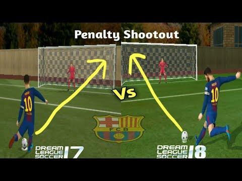Dream League Soccer 17 vs Dream League Soccer 18 | Fc Barcelona | Penalty and Graphics Comparison