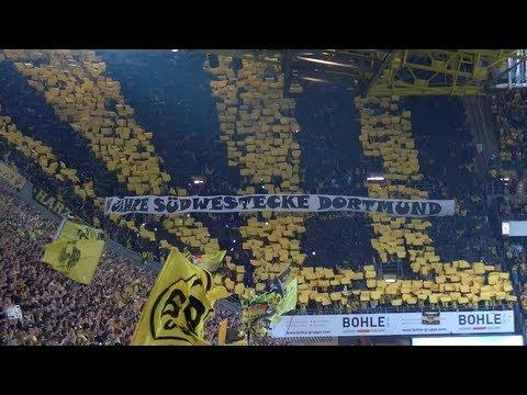Stimmung Südtribüne: Borussia Dortmund - Eintracht Braunschweig 2:1 BVB Fans 18.08.2013 Hofmann