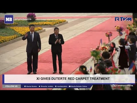 Xi gives Duterte red carpet treatment