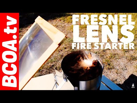 How to Campfire - Start a Fire with a Big Fresnel Lens - Great Tool for Backpacking and Camping 🔥