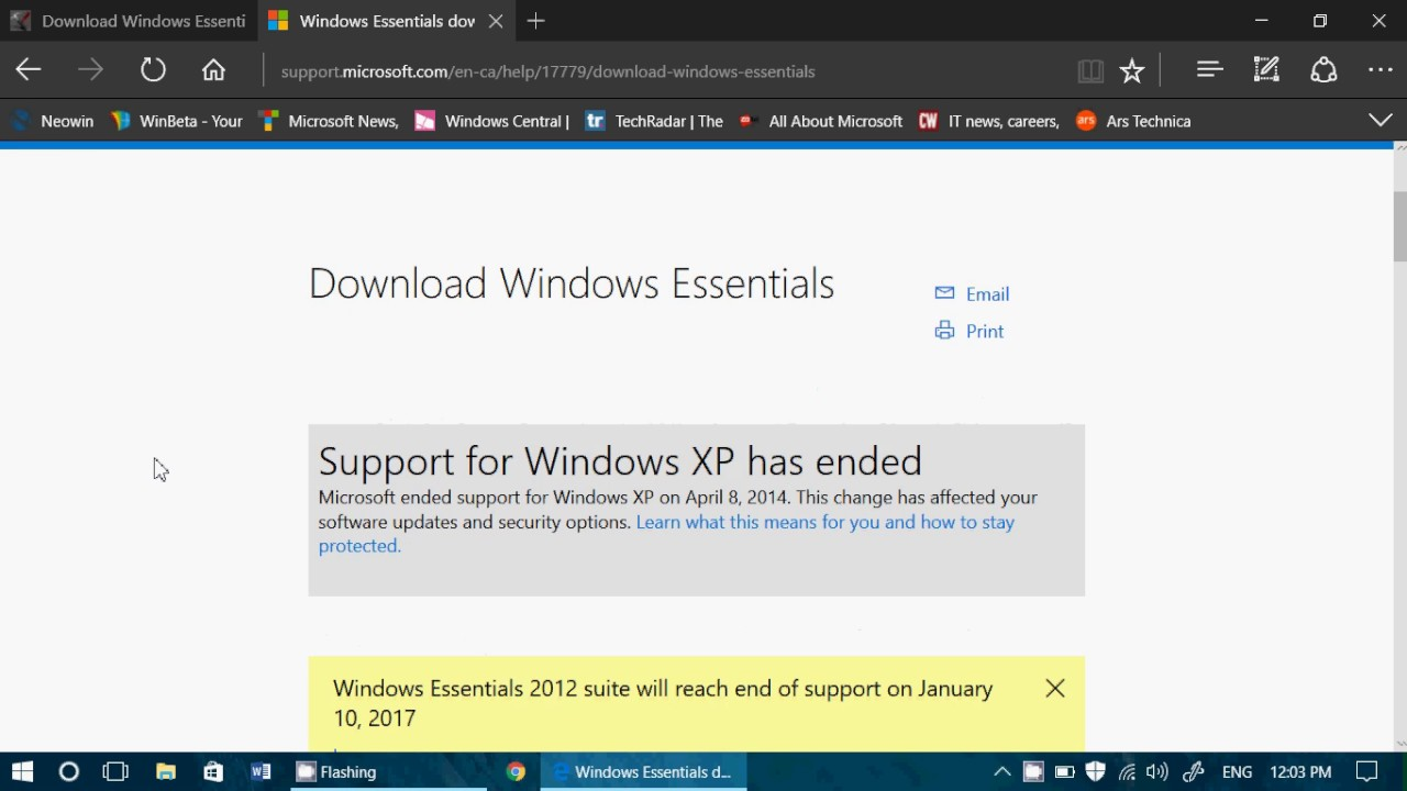 How to install Microsoft Windows Essentials tools ...