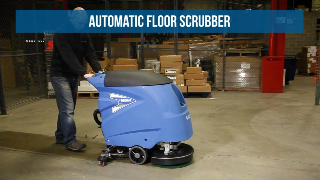 Global Industrial Auto Floor Scrubber 18 Quot Cleaning Path