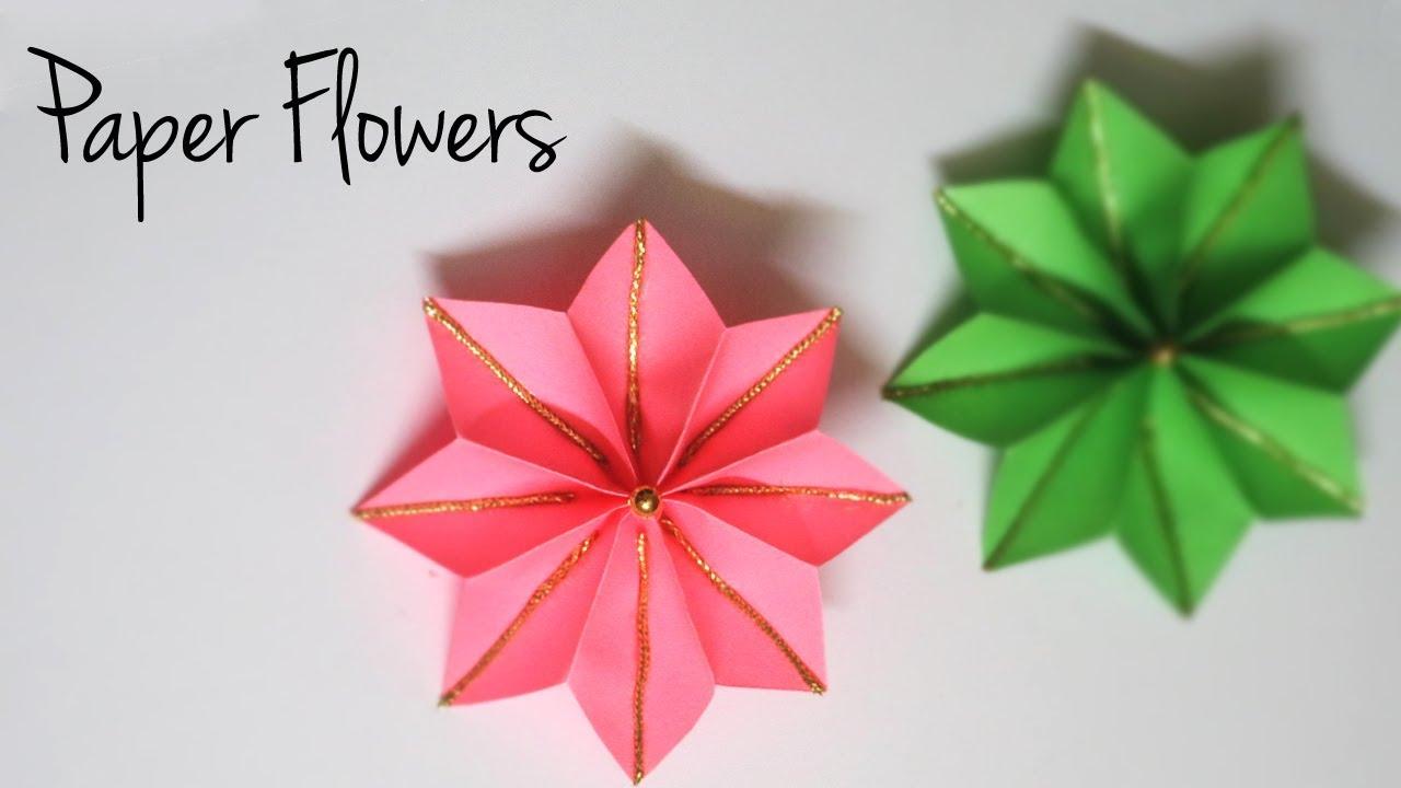 Decorative paper flowers easy paper crafts flower making decorative paper flowers easy paper crafts flower making tutorial mightylinksfo