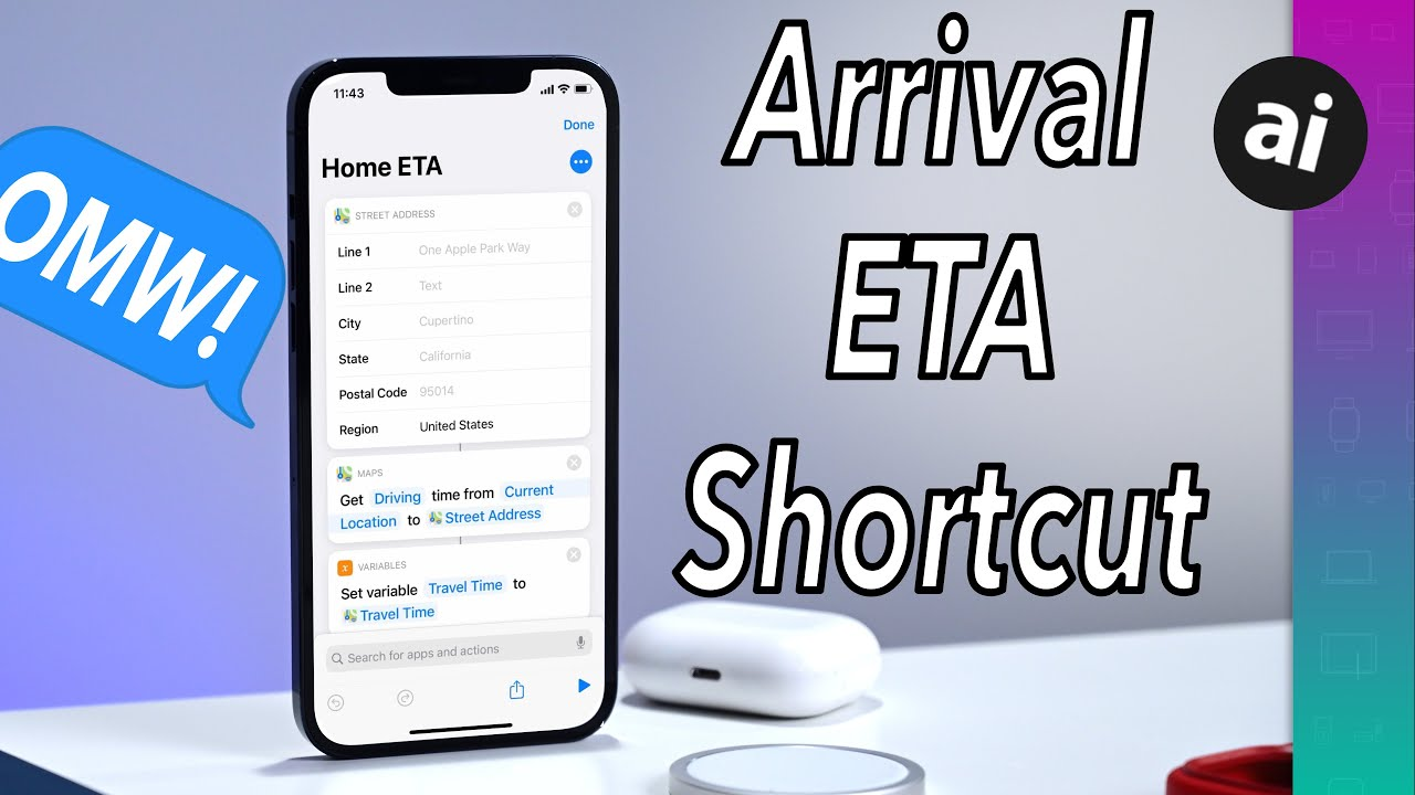 How to make an iPhone Shortcut to automatically text your time to destination