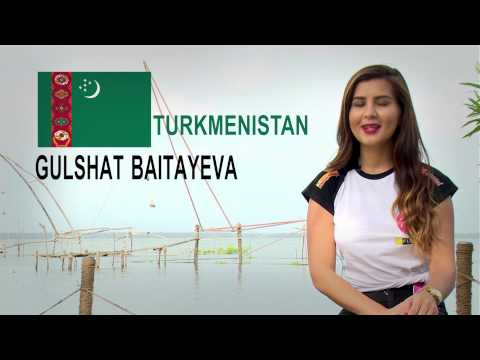 MISS ASIA SELF INTRO BY GULSHAT BALTAYEVA(TURKMENISTAN )
