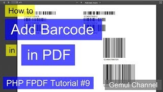 How to Add Barcode in PDF | PHP FPDF Tutorial #9