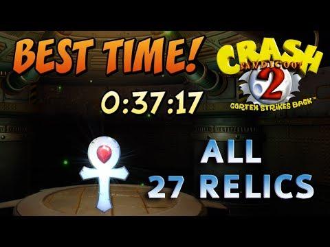 Crash Bandicoot 2: Cortex Strikes Back - All Gold / Platinum Relics Time Trials (Full Walkthrough)