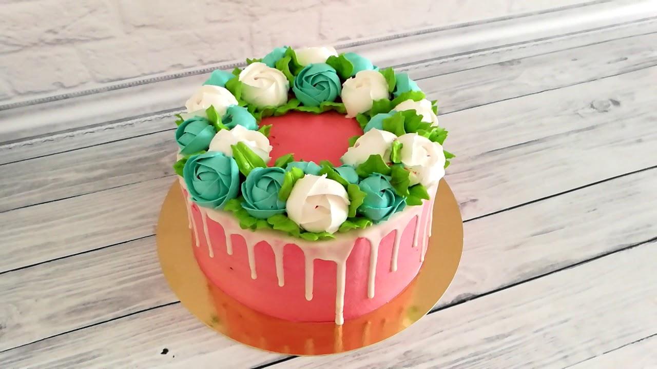 Торт на Юбилей.Торт для Женщин. - YouTube