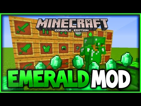 Minecraft Console Mod Concept Gameplay - Emerald Mod Xbox One Modded Minecraft (Xbox360/PS3)