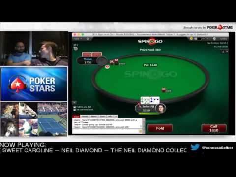 Vanessa Selbst and Daniel Negreanu are playing Spin & Go