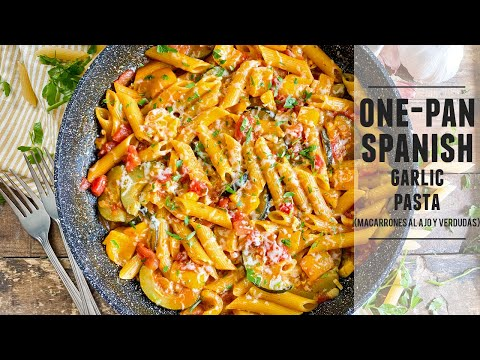 One-Pan Spanish Garlic Pasta   Easy Recipe & Done in 30 Minutes