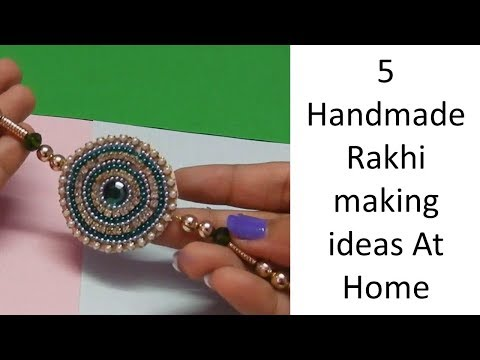 5 Handmade latest Rakhi making ideas | How to make Rakhi at home ?| Learning Process