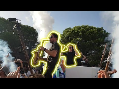 Bakermat live at Beach Party with amazing Saxophonist Ben - Brian Rocca Vlog #15