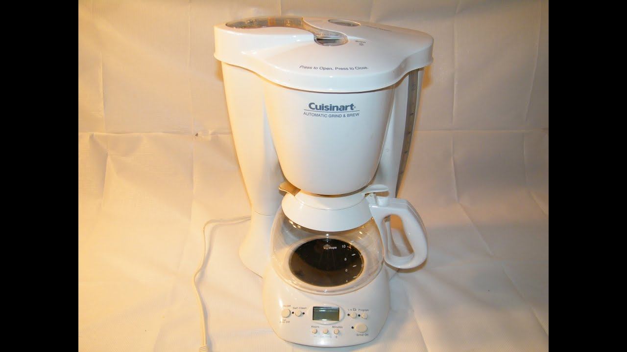 CUISINART AUTOMATIC GRIND BREW 10CUP COFFEEMAKER model DGB300