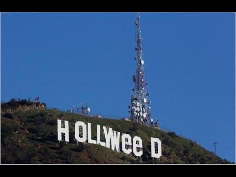 LA Landmark Sign Hollywood was vandalised on Sunday to read 'Hollyweed'