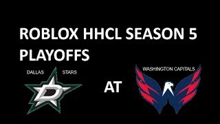 ROBLOX HHCL Season 5 Playoffs - DAL @ WSH Game 1