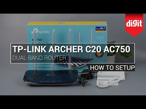 How to setup the TP Link Archer C20 AC750 Dual band Router