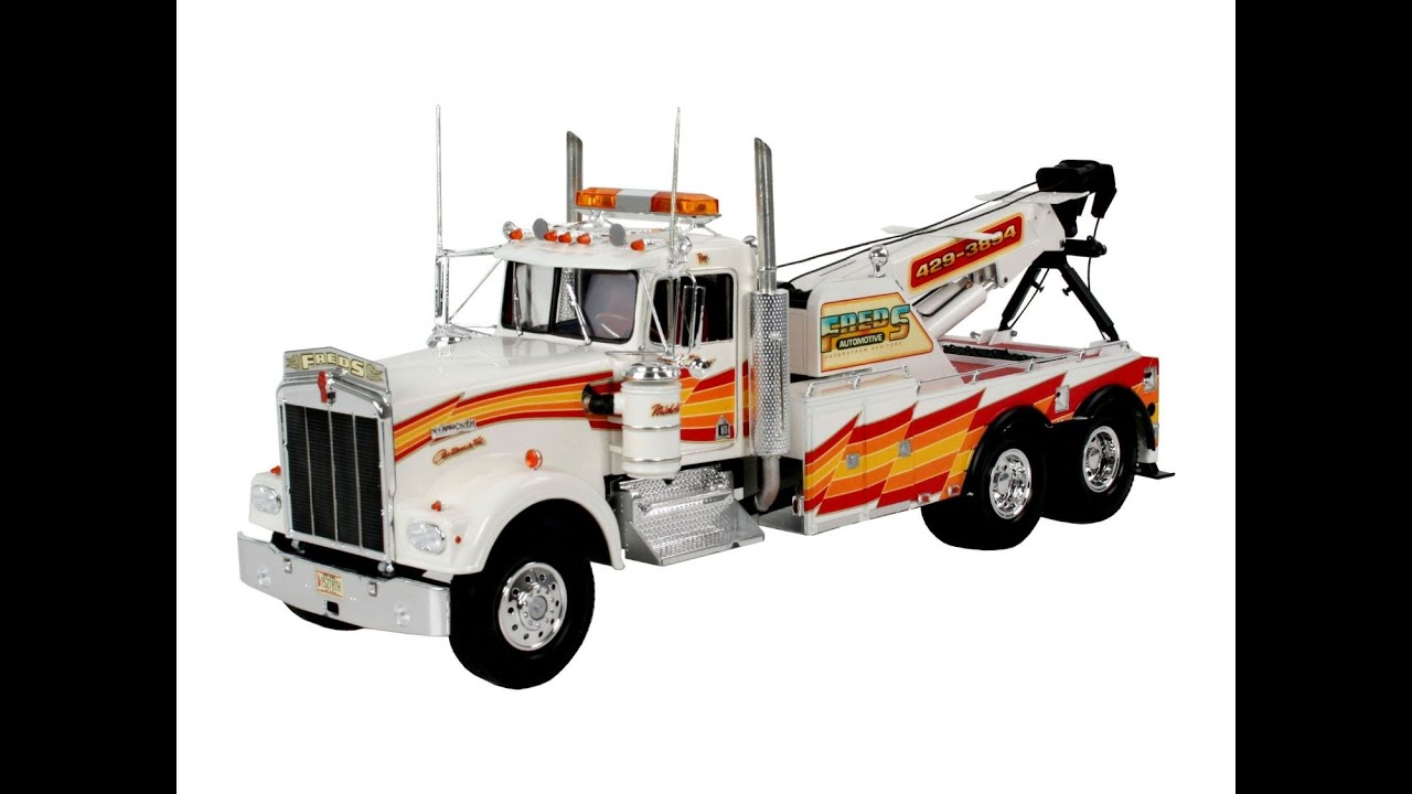 camion grue jouet kenworth w900 wrecker youtube. Black Bedroom Furniture Sets. Home Design Ideas