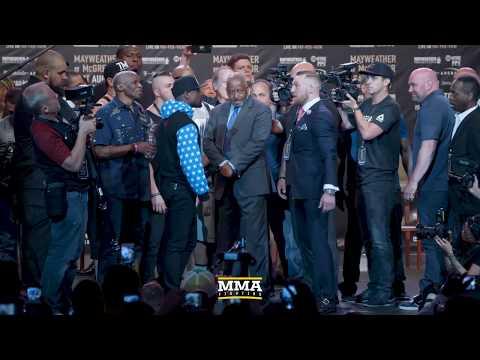 Conor McGregor vs. Floyd Mayweather World Tour Staredown Final (LA)