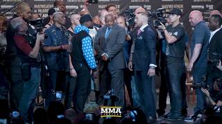 mayweather mcgregor press conference