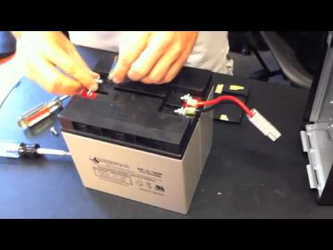What is the battery replacement procedure for a smart-ups.
