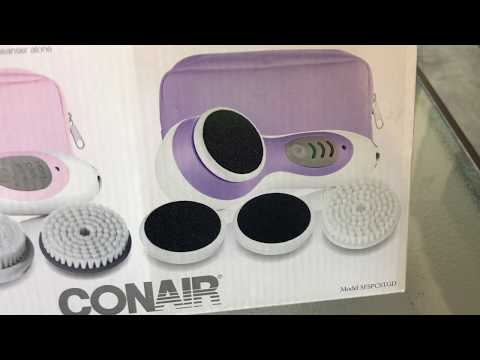 CONAIR TRUE GLOW SKIN & FOOT CARE KIT ( WITH EXTRAS) UNBOXING/REVIEW