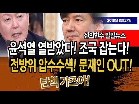 (일일뉴스) 윤석열 열받았다! 조국 잡는다!!! 문재인 맨붕!!!/ 신의한수 19.08.27