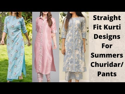 Straight Fit Cotton Kurti Designs For Summers 2020 | Cotton Kurti For Churidar/Pants