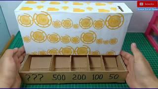 WOW Kreatif! Cara Membuat Kotak Sortir Koin Ajaib dari Kardus Bekas - Kerajinan dari Kardus