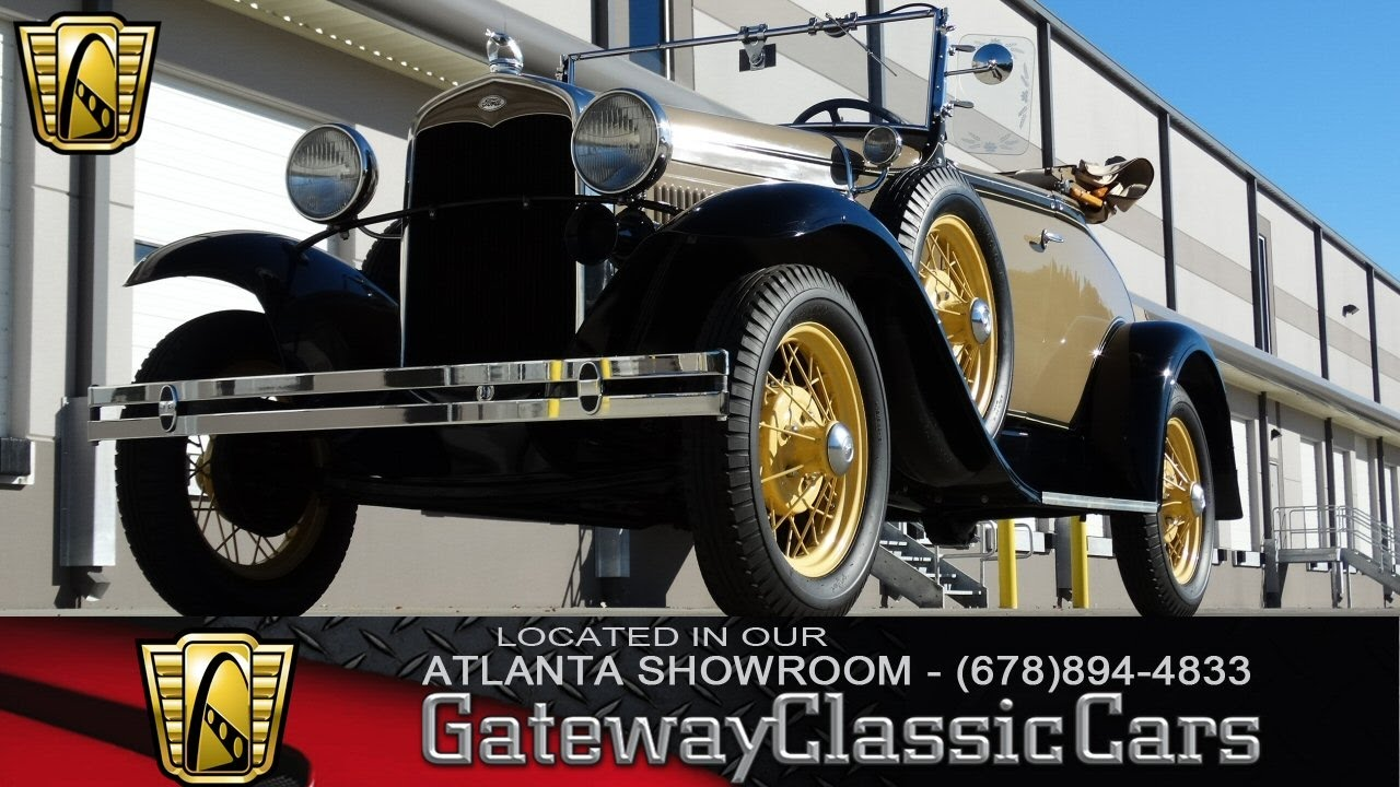 1931 Ford Model A Deluxe Roadster - Gateway Classic Cars of ...