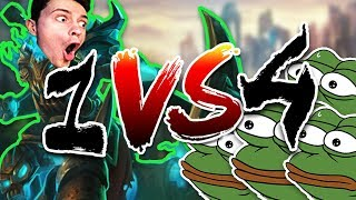 JÁ vs MOJE RODINA!! - 1v4 League of Legends