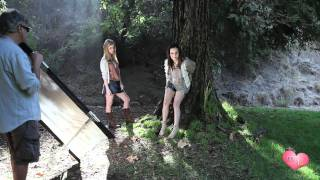 Megan and Liz Behind-The-Scenes Photo Shoot