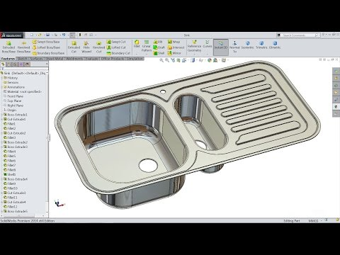 Solidworks tutorial | sketch kitchen sink in Solidworks