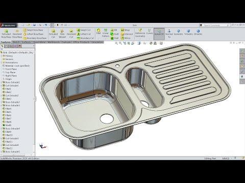 Solidworks tutorial | sketch kitchen sink in Solidworks