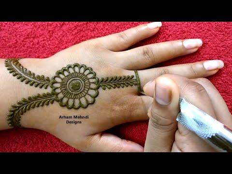 Rakhi 2019 Special Easy Stylish Beautiful Jewellry Mehndi Design for Hand || Arham Mehndi Designs