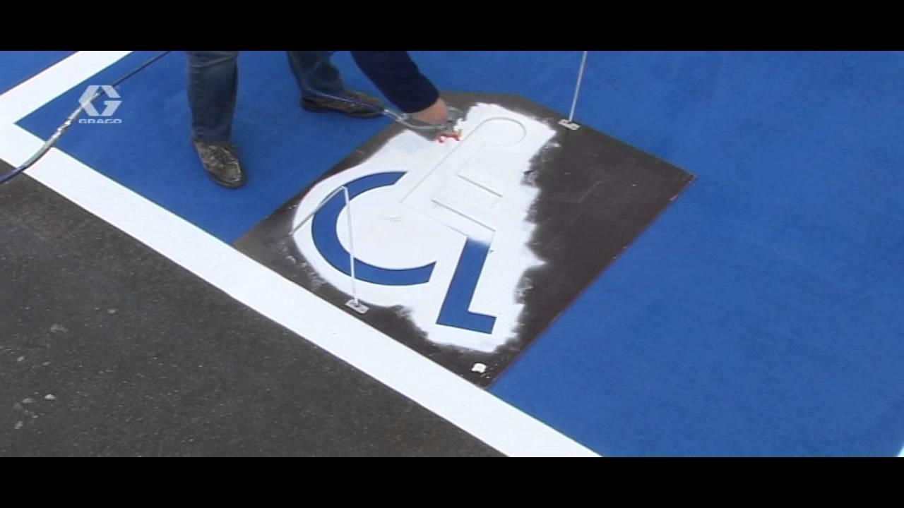 Plantilla pintado - Aparcamiento Discapacitados - YouTube