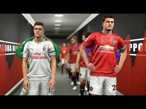 Manchester United Vs AC Milan Ft Maguire , Lovren , Everton , Savic    PES 2019