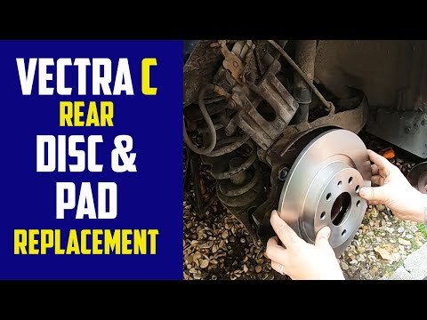 Vauxhall Vectra C Rear Brake Disc And Pads Replacement   Opel