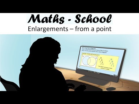 Enlarging shapes from a given point for GCSE Maths (Maths-School)